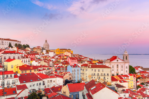 Photo  View of Alfama, the oldest district of the Old Town, Church of Saint Stephen and