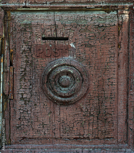 Wall Murals Nepal Fragment of an old door with cracked paint
