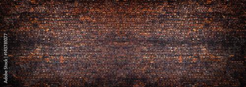 Photo sur Toile Brick wall panorama brick wall, a broad band of the surface of masonry