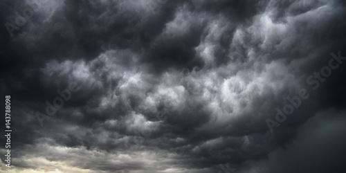 Cielo tempestoso e cielo drammatico Canvas Print