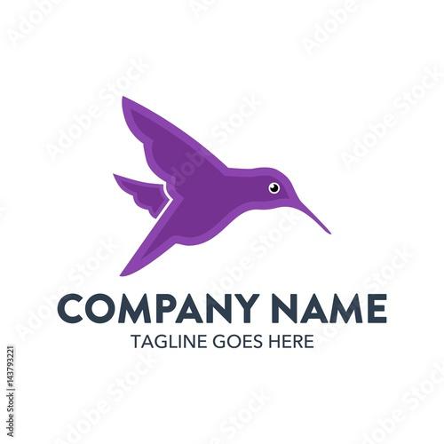 Fotobehang Vlinder Unique Hummingbird Logo Template