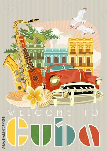 Photo  Cuba attraction and sights - travel postcard concept