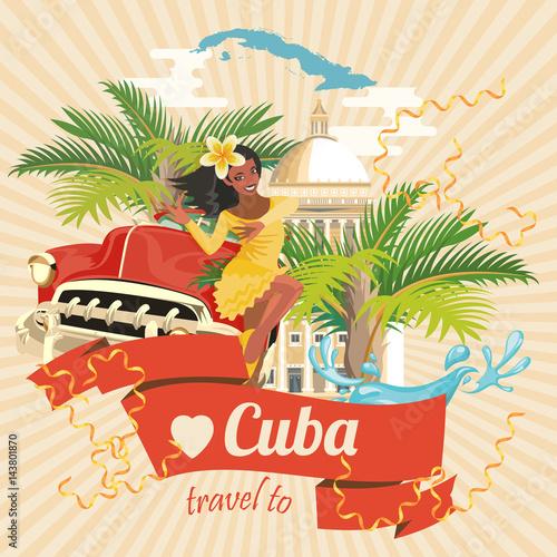 Fotografija Cuba attraction and sights - travel postcard concept