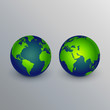 realistic earth icons sign design