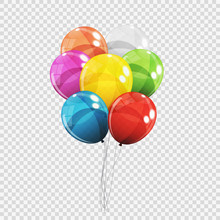 Group Of Colour Glossy Helium ...