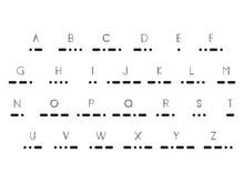 Morse Code, Vector Illustration EPS 10