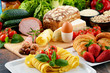 Composition with variety of organic food products