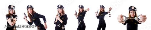 Fotografia Female police isolated on the white