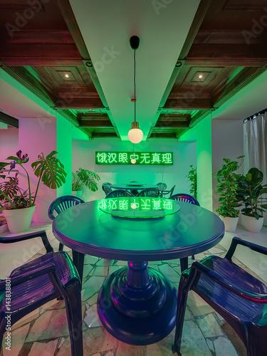 Deurstickers Kinderkamer Restaurant in modern style