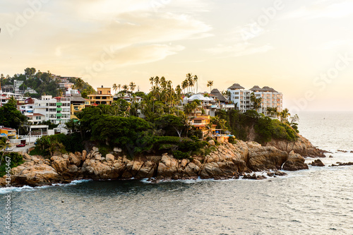 View of Acapulco in evening, Mexico Fototapet