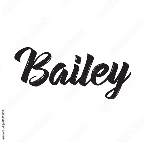 Photo bailey, text design. Vector calligraphy. Typography poster.