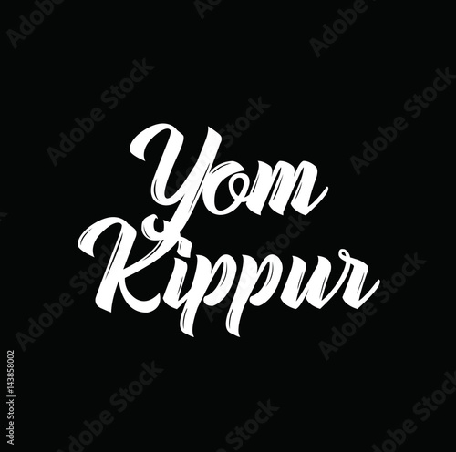 yom kippur, text design. Vector calligraphy. Typography poster. Fototapeta
