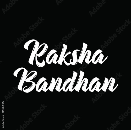 Fotografering  raksha bandhan, text design