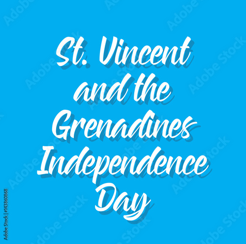 st  vincent and the grenadines independence day, text design