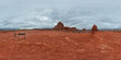 Panoramic 360 view from the Courthouse Tower Viewpoint in the Arches National Park