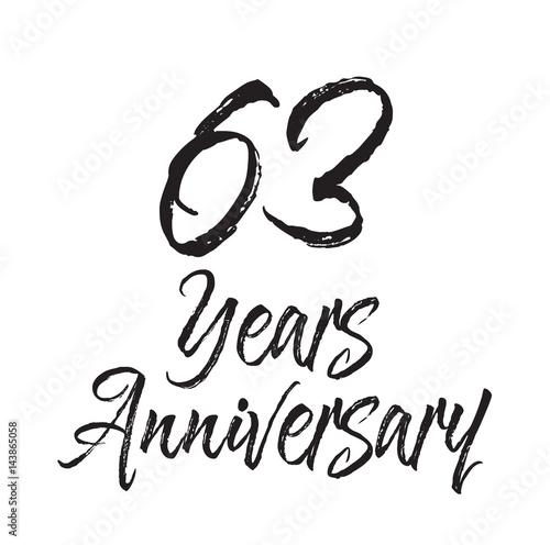 Fotografia  63 years anniversary, text design