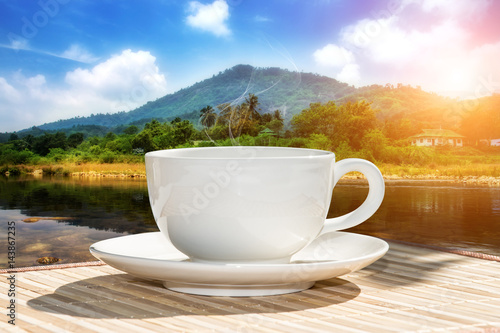 Wall Murals Cafe morning coffee