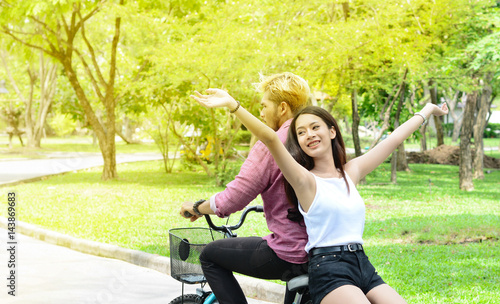 Photo Lover with happy time on bike