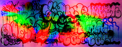 Fotografie, Obraz  Colourful glitch abstract background