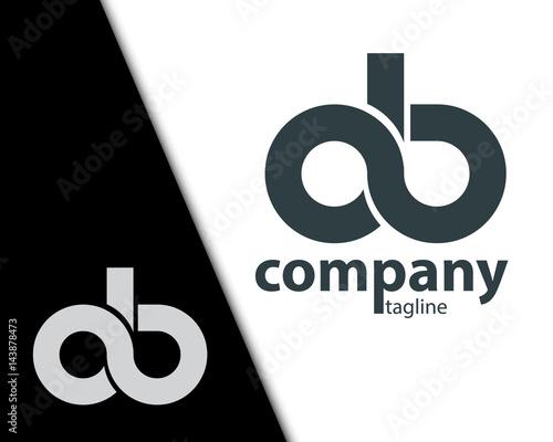 Pinturas sobre lienzo  Initial Letter OB CB  Rounded Lowercase Logo