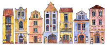 Watercolor Drawing Houses
