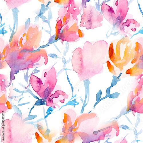 kwiatowy-wzor-z-sakura-i-magnolii-w-stylu-przypominajacym-akwarele
