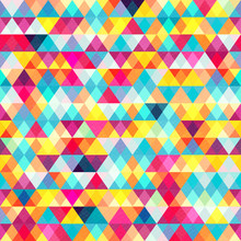 Colored Triangles. Seamless Pa...