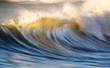 canvas print picture - Epic waves crashing on the ocean along the coast of south africa