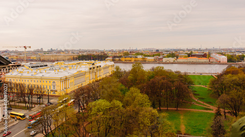 View from above over Saint Petersburg, Russia