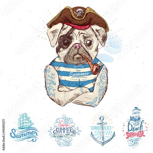 ilustracja-pirata-mopsa-pies