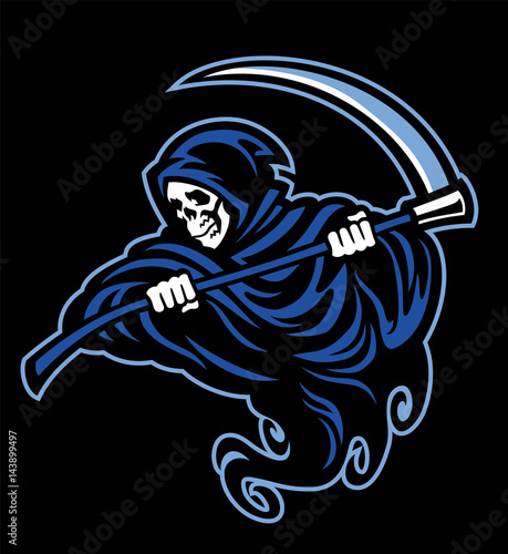 skull of grim reaper with the sickle Canvas Print