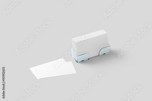 White business card mockup in acrylic holder isolated plastic white business card mockup in acrylic holder isolated plastic transparent glass box with blank namecards reheart Images