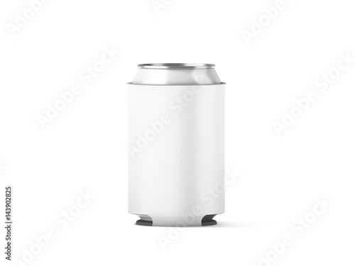Blank white collapsible beer can koozie mockup isolated, 3d rendering Canvas-taulu