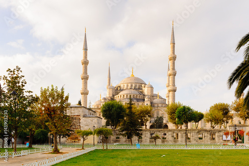 Fotobehang Turkije Blue mosuqe, Istanbul, Turkey