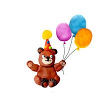 Plasticine  Baby Teddy Bear In...