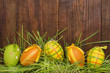 Easter eggs. Funny decoration. Happy Easter