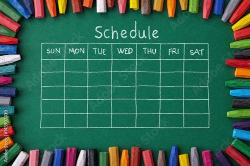 Schedule Canvas Print