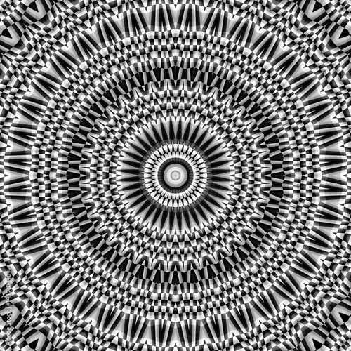 Spoed Foto op Canvas Psychedelic Abstract symmetric pattern
