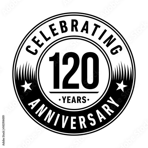120 years anniversary logo template vector and illustration buy