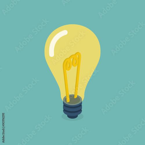 Photo  Isometric bulb design