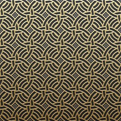 Panel Szklany Podświetlane Art Deco Golden metallic background with geometric pattern. Elegant luxury style.