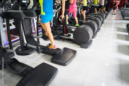 Fotografie, Obraz  Stepper closeup in gym