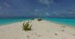 v00208 Maldives beautiful beach background white sandy tropical paradise island with blue sky sea water ocean 4k