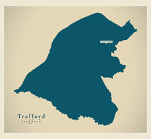 Modern Map - Trafford Borough ...