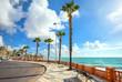 Seafront promenade in Benalmadena. Malaga province, Andalusia, Spain