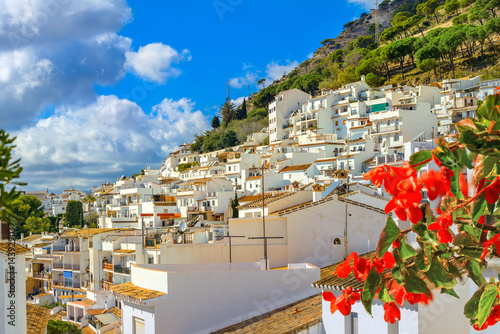Photo White village of Mijas. Costa del Sol, Andalusia, Spain