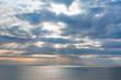 Spectacular landscape and fishing boats at mediterranean sea Coast of Adana, Turkey