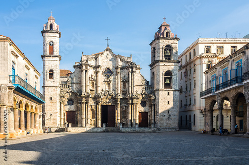 Deurstickers Havana Kuba - Havanna - Plaza de la Catedral