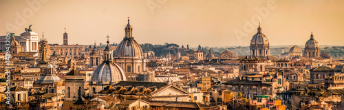 Skyline of Rome, Italy. Rome architecture and landmark, cityscape. Rome postcard #143943205
