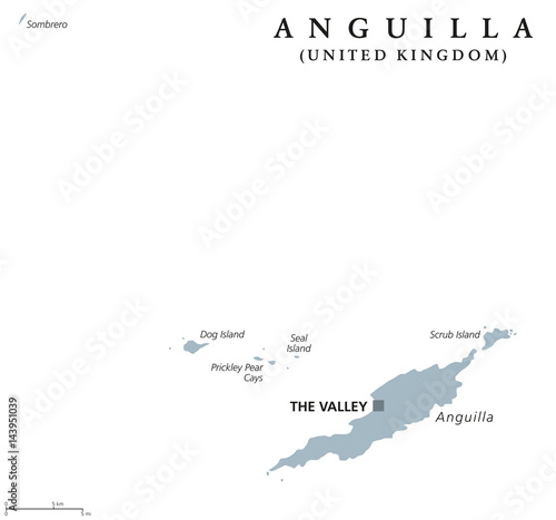 Map Of Uk Overseas Territories.Anguilla Political Map With Capital The Valley British Overseas